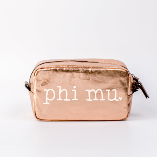 Phi Mu Medium Cosmetic Bag from www.alistgreek.com