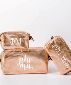 Phi Mu Cosmetic Bag set from www.alistgreek.com