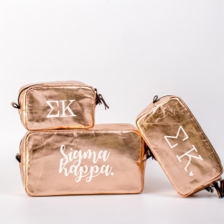 Sigma Kappa Cosmetic Bag Set from www.alistgreek.com