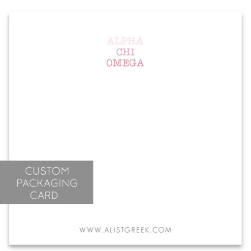 Alpha Chi Omega Custom Packaging Card