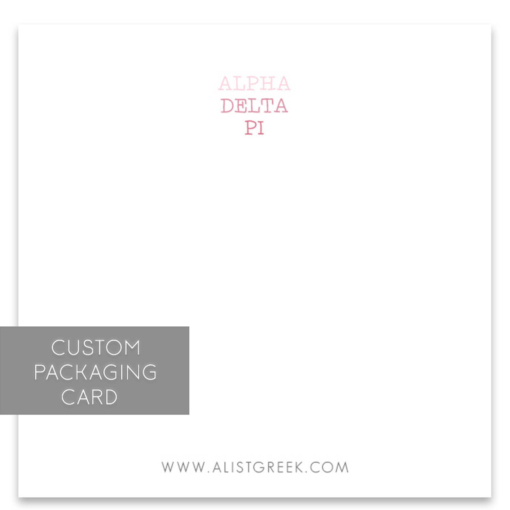 Alpha Delta Pi Custom Packaging Card