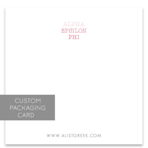 Alpha Epsilon Phi Custom Packaging Card