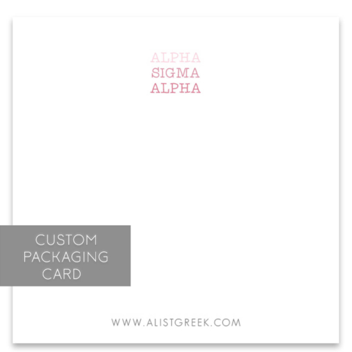 Alpha Sigma Alpha Custom Packaging Card