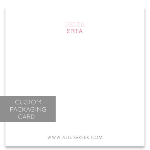 Delta Zeta Custom Packaging Card