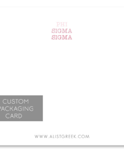Phi Sigma Sigma Custom Packaging Card