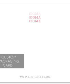 Sigma Sigma Sigma Custom Packaging Card