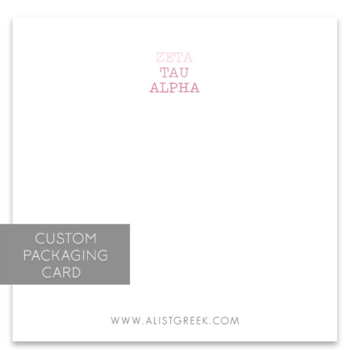 Zeta Tau Alpha Custom Packaging Card