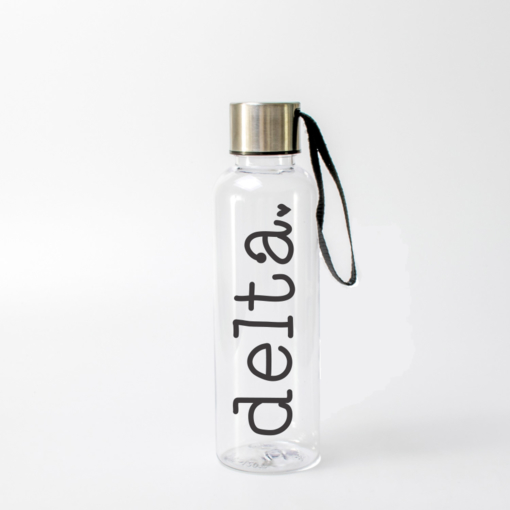 Delta Delta Delta Typewriter Water Bottle from www.alistgreek.com