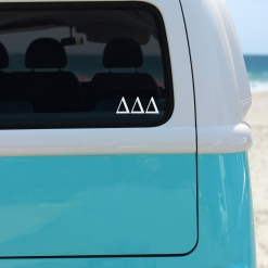 Delta Delta Delta White Greek Letter Decal from www.alistgreek.com