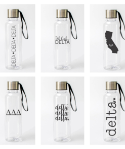 Delta Delta Delta Water Bottles from www.alistgreek.com