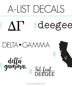 Delta Gamma Decal 6 Pack from www.alistgreek.com