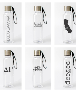 Delta Gamma Water Bottles from www.alistgreek.com