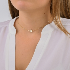 Petite Delta Gamma Circle Choker Necklace by www.alistgreek.com