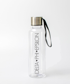 Delta Phi Epsilon Block Letters Water Bottle from www.alistgreek.com
