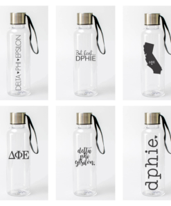 Delta Phi Epsilon Water Bottles from www.alistgreek.com