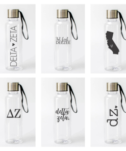 Delta Zeta Water Bottles from www.alistgreek.com