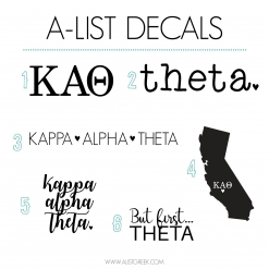 Kappa Alpha Theta Decal 6 Pack from www.alistgreek.com