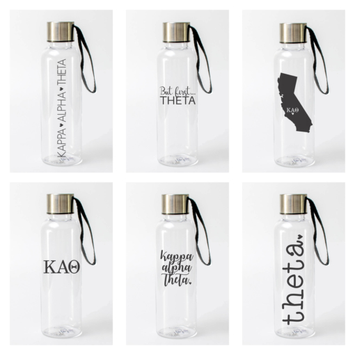 Kappa Alpha Theta Water Bottles from www.alistgreek.com