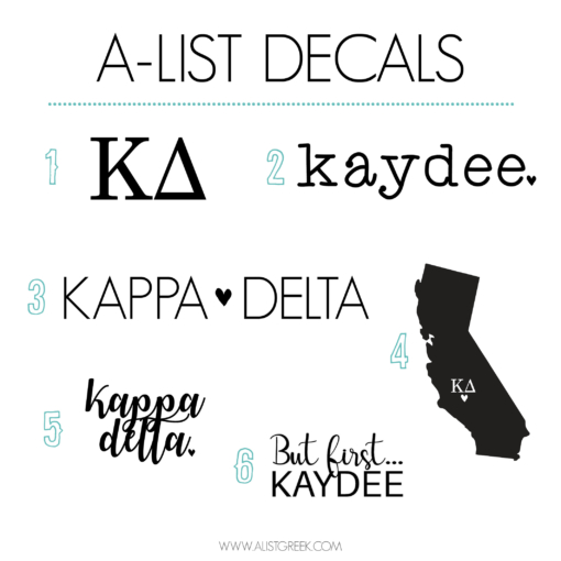 Kappa Delta Decal 6 Pack from www.alistgreek.com