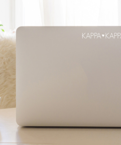 Kappa Kappa Gamma White Block Letter Decal from www.alistgreek.com