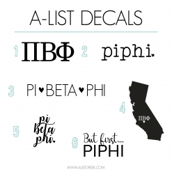 Pi Beta Phi Decal 6 Pack from www.alistgreek.com