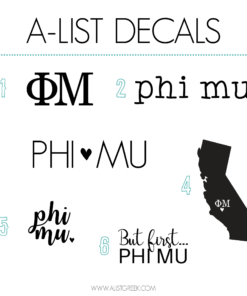 Phi Mu Decal 6 Pack from www.alistgreek.com
