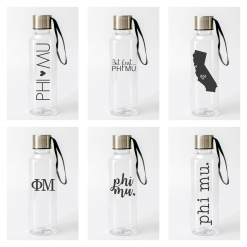 Phi Mu Water Bottles from www.alistgreek.com