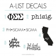 Phi Sigma Sigma Decal 6 Pack from www.alistgreek.com