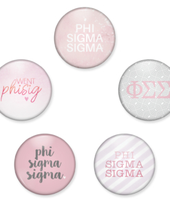 Phi Sigma Sigma Buttons from www.alistgreek.com