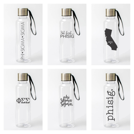 Phi Sigma Sigma Water Bottles from www.alistgreek.com