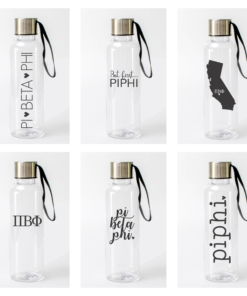 Pi Beta Phi Water Bottles from www.alistgreek.com