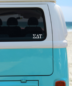 Sigma Delta Tau White Greek Letter Decal from www.alistgreek.com