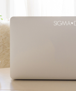 Sigma Delta Tau White Block Letter Decal from www.alistgreek.com