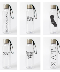 Sigma Delta Tau Water Bottles from www.alistgreek.com