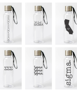 Sigma Sigma Sigma Water Bottles from www.alistgreek.com