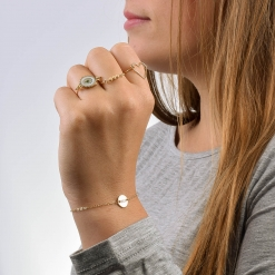 Gold Petite Zeta Sorority Bracelet by www.alistgreek.com