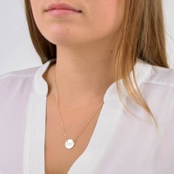 Medium Alpha Sigma Tau Circle Necklace by www.alistgreek.com