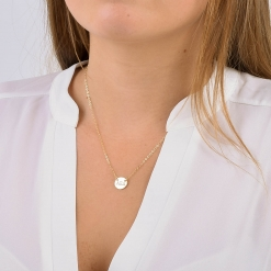 Small Alpha Xi Delta Circle Necklace by www.alistgreek.com