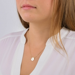 Phi Mu Small Circle Pendant Necklace by www.alistgreek.com
