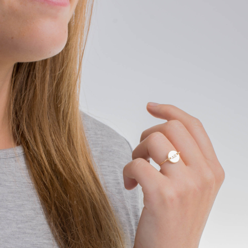 Delta Zeta Circle Wire Ring Petite by www.alistgreek.com