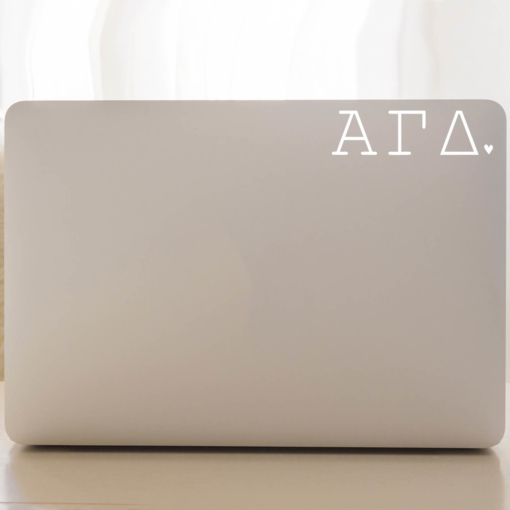 Alpha Gamma Delta Typewriter Decal
