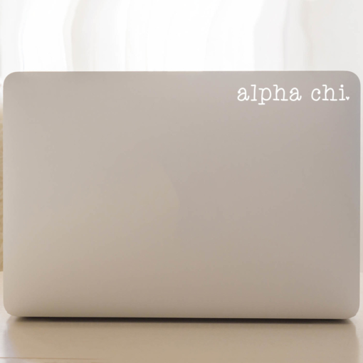 Alpha Chi Omega Typewriter Decal