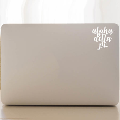 Alpha Delta Pi Script Decal