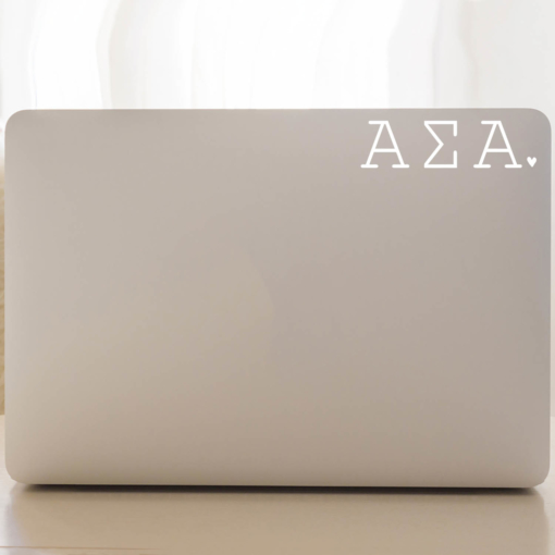 Alpha Sigma Alpha Typewriter Decal Laptop
