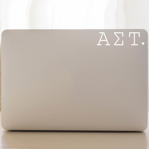 Alpha Sigma Tau Typewriter Decal Laptop