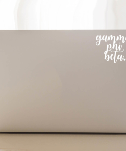 Gamma Phi Beta Script Decal Laptop