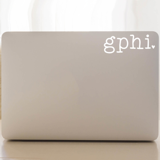 Gamma Phi Beta Typewriter Decal Laptop