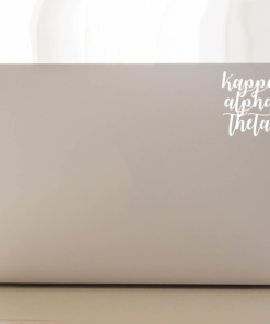 Kappa Alpha Theta Script Decal Laptop