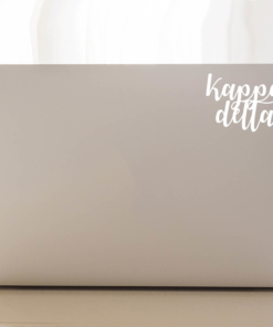 Kappa Delta Script Decal Laptop
