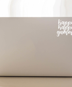 Kappa Kappa Gamma script decal laptop